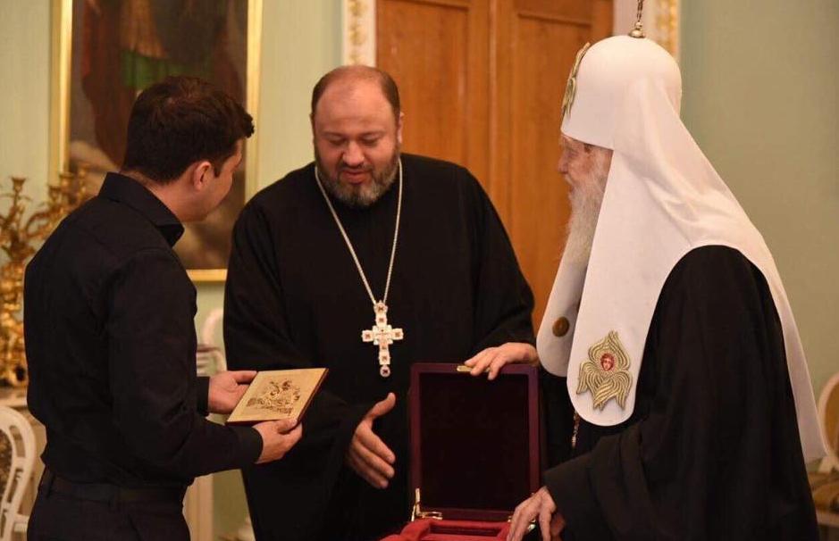 Зеленський зустрівся з Патріархом Філаретом та Епіфанієм.